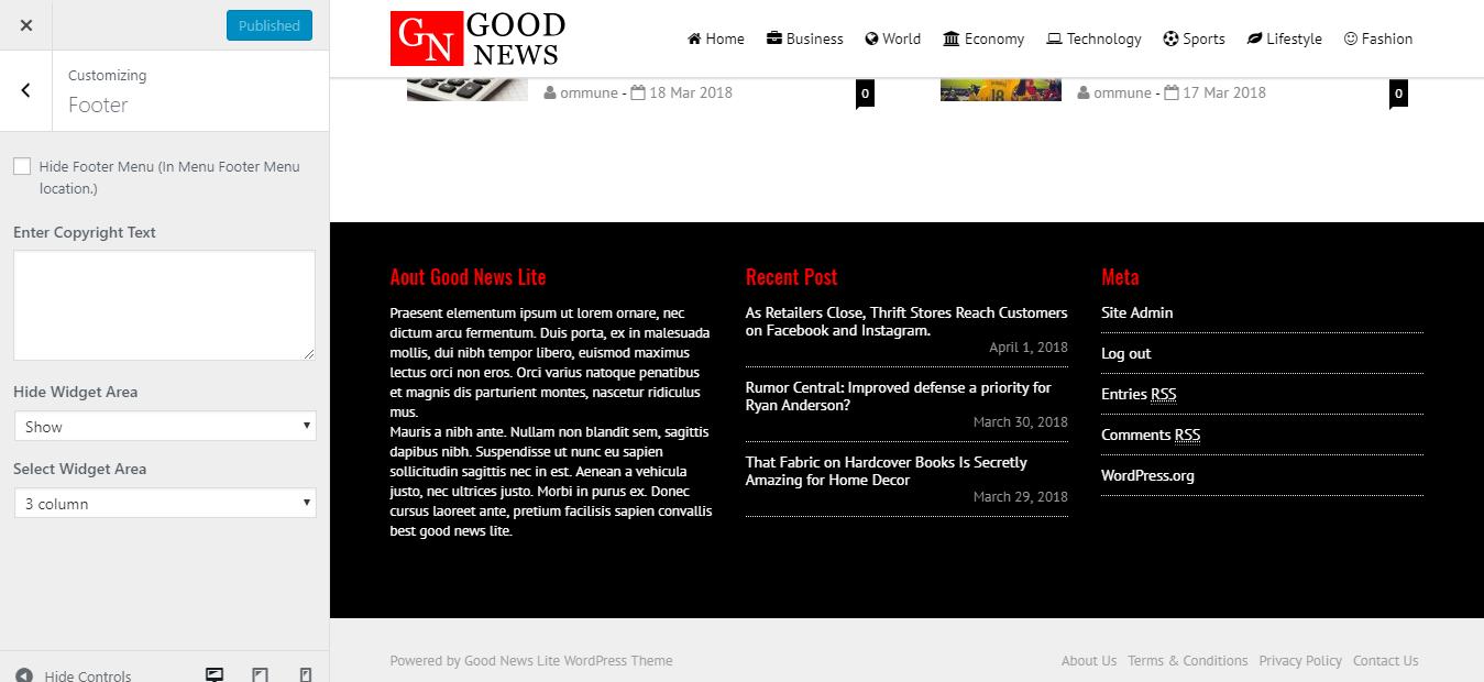 Good News Lite Theme Documentation